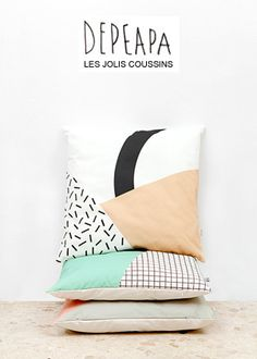 Coup de coeur pour les motifs colorés et géométriques de l'anglaise Becky Kemp. Des broches en bois, peintes dans de jolies couleurs dynamiques, en forme d'animaux : ours, renard, lapin, cerf. Je t...