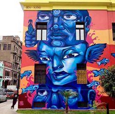 Mural by Entes & Pésimo - for Monumental Callao - Lima, Perú - Sept 2015