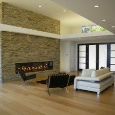 Fireplace feature wall on Pinterest  Feature Walls, Stone Walls and ...