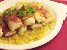 As receitas lá de casa: Medalhões de pescada enrolados em bacon