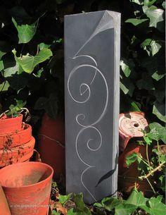 Jon Bush. Decorative swirl with corner, slate 2014