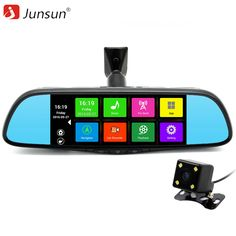 New 7inch Junsun GPS Navigation Android 4.4 Car DVR Rearview mirror FHD1080P dash camera car dvrs video recorder Dual Camera GPS -- AliExpress Affiliate's buyable pin. Details on product can be viewed on www.aliexpress.com by clicking the image #CarVideo Recorder