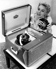 Tocadiscos portátil de los años 50