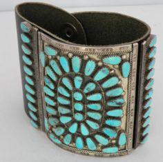 Vintage Native American Zuni Sterling Petite Turquoise Ketoh Bow Guard Bracelet | eBay