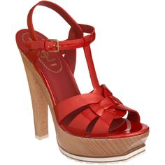 YSL tribute, more fab wooden heels. I love this trend for summer.