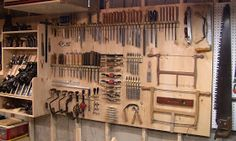 (Go back to part 2 ) My Wall-O-Tools is finished. I had to add another panel on the right. It's now so wide I'm having trouble photographi...