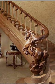 Bannister Wooden Staircases, Wooden Stairs, Wooden House, Stairways, Stone Stairs, Concrete Stairs, House Stairs, Carpet Stairs, Equestrian Decor