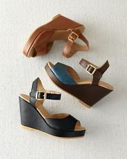 Chiara Leather Wedges, love the blue/brown combo. Though, if I'm being honest I probably don't need another pair of wedges.