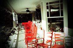 Porch    Red Rocker Inn located in Black Mountain, NC.