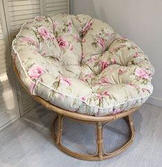 Our soft coloured Country Rose Floral Cushion in Cream with cute mini pompom trim. Looking pretty comfortable! Papasan Cushion, Papasan Chair, Country Rose, Garage Remodel, Replacement Cushions, Tiny House Plans, Light Oak, Pet Beds, Floral Design