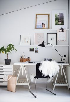 The My Scandinavian Home blog office gets a fresh update thanks to the MANTIS table lamp from @Houseologists  :)