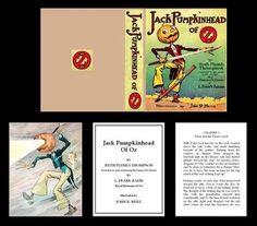 1:12 MINIATURE BOOK JACK PUMPKINHEAD OF OZ