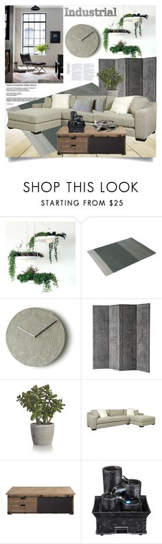 """""""Industrial Comfort"""" by clotheshawg ❤ liked on Polyvore featuring interior, interiors, interior design, home, home decor, interior decorating, Wildfox, Muuto, Eichholtz and Crate and Barrel"""