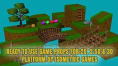 3D Platform Game Ready Props