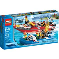 Patrol the LEGO City waters in the sleek Fire Boat. Patrol the LEGO City harbor in the sleek Fire Boat. Lego City Fire, Lego Fire, Lego City Sets, Lego Sets, Lego City Police, Buy Lego, Speed Boats, Toddler Toys, Kids Toys
