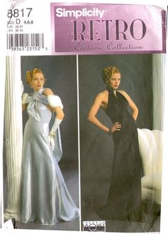 Simplicity 8819 Jean Harlow 1930s Evening Gown by DejaVuPatterns