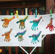 Dinosaur Party - My Kids Party - A creative activity and craft idea for a dinos. - Dinosaur Party – My Kids Party – A creative activity and craft idea for a dinosaur party or fo - Kids Crafts, Baby Crafts, Toddler Crafts, Arts And Crafts, Toddler Party Ideas, Preschool Crafts, Ideas Party, Creative Activities, Craft Activities