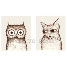 Owl Prints by Olive Dear