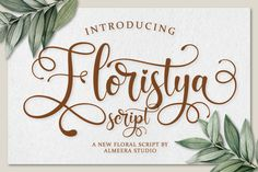 Floristya Script is a floral script that bring luxury feel. The natural hand writing script is suitable for you who needs a typeface for headline, logotype, Handwritten Fonts, Script Logo, Calligraphy Fonts, All Fonts, Easter Fonts, Font Design, Graphic Design, Types Of Printing, Premium Fonts