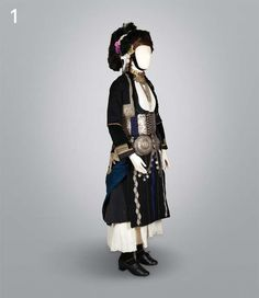 national costume in Gidas (Alexandria), Imathia, Macedonia, Greece