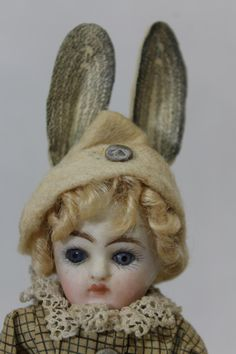 Antique Early Japan Bisque Head Mechanical Doll Easter Egg Candy Container | eBay