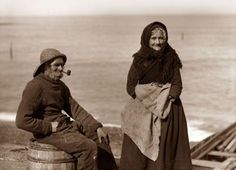 Whitby fisherman and wife 1870's
