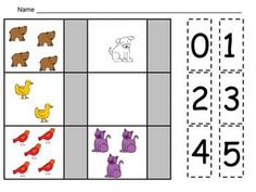 FREE Brown Bear Counting Cut and Paste Practice Pages :)