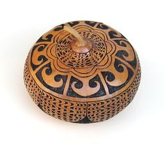 Gourd Art Hand Carved Gourd Intricate Detail by midnightcoiler, $150.00