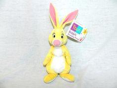 VTG Disney MATTEL Winnie the Pooh Rabbit Beanbag friend 8  Plush New w Tag