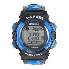 2016 HONHX Hot LED Digital Electronic Multifunction Children Kids Boys Girls Wrist Watches reloj kol saati Good-looking JUL 7