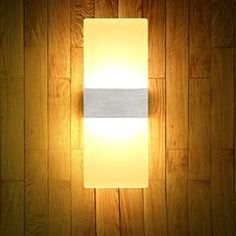 LED Creative Corridor Aisle Wall Mounted Sconce Lamp Bedside Light Acrylic Simple Decorative Lighting Bedside Lighting, Bedside Lamp, Decorative Lighting, Corridor, House Rooms, Light Decorations, Wall Mount, Online Shopping, Sconces