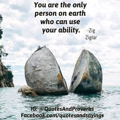 """You are the only person on earth who can use your ability."" -Zig Ziglar #quotes"
