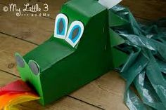 Image result for easy cardboard box chinese dragon head kids