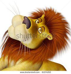 stock-photo-lion-cartoon-big-cute-face-61574263.jpg (450×470)
