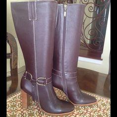SCHUTZ BROWN TALL KNEE HIGH BOOTS Brand new unworn with no box Knee high brown SCHUTZ boots. Size 9 SCHUTZ Shoes Heeled Boots
