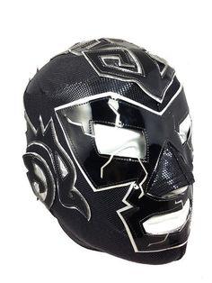 DR. WAGNER (pro-LYCRA) Adult Lucha Libre Wrestling Mask - Black