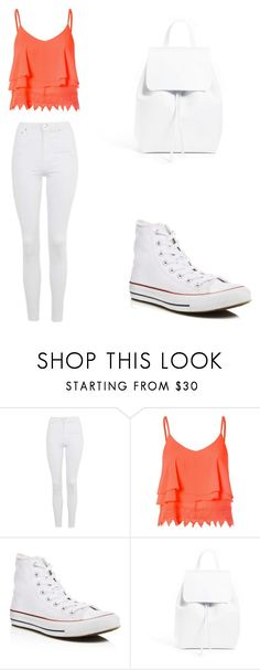 """""""Casual"""" by rhianna-alexandre on Polyvore featuring Topshop, Glamorous, Converse and Mansur Gavriel"""