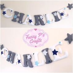 Show your little man what a STAR he is with this fabulous handmade letter garland 🌟