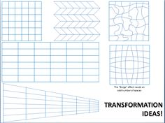 Students build on their knowledge of grid drawings as they try to master the distorted grid - inspired by the