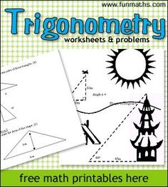 Trigonometry Worksheets & Problems. Free printables for classroom use.