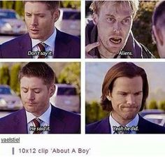 Find images and videos about funny, supernatural and Jensen Ackles on We Heart It - the app to get lost in what you love. Cw Tv Series, Series Movies, Mark Sheppard, Sam Winchester, Winchester Supernatural, Jared Padalecki, Misha Collins, Destiel, Jensen Ackles