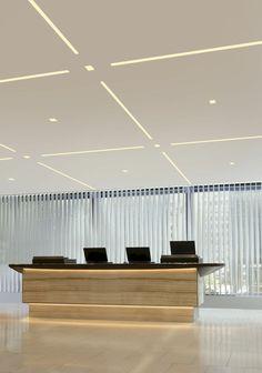 Com/Led-Ceiling-Light-Decoration-Ideas/ office ceiling design, offi Office Ceiling Design, House Ceiling Design, Ceiling Design Living Room, Ceiling Light Design, House Design, Ceiling Ideas, Lighting Concepts, Linear Lighting, Strip Lighting