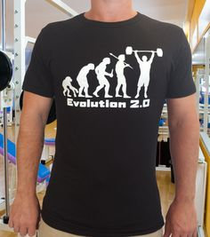 Mens Black Bamboo and Organic Cotton T-Shirt with Evolution 2.0 Motif by Bad Panda Clothing