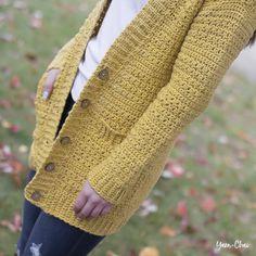 Crochet Coat, Crochet Cardigan Pattern, Crochet Shirt, Crochet Stitches Patterns, Crochet Clothes, Crochet Sweaters, Sweater Patterns, Knitting Patterns, Tsumtsum