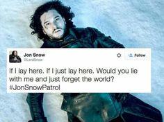 Jon Snow Scenes  Snow Patrol Lyrics = JonSnowPatrol  Jon Snow Fantasy Game Of Thrones Adventure Tv Series Meme