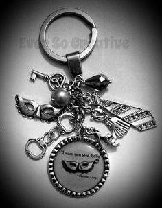 50 Shades of Grey Inspired KeyChain by EverSoCreative on Etsy, $16.95
