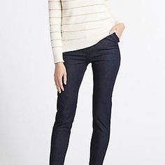 M/&s Indigo Mix  Straight Leg Jeans Size 14 Long Bnwt Free Same day Postage