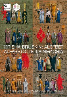 "Locandina mostra ""Grisha Bruskin. Alefbet: alfabeto della memoria"". #grishabruskin #querinistampalia #exhibition #russianart #contemporaryart"