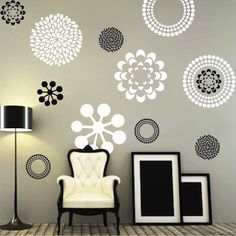 can get two different sizes in two different colorsprettifying wall decals from trendy wall designs - Design Stickers For Walls