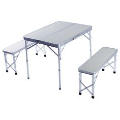 Folding Camping Or Picnic Table And Bench Set | Camping | Pinterest ...